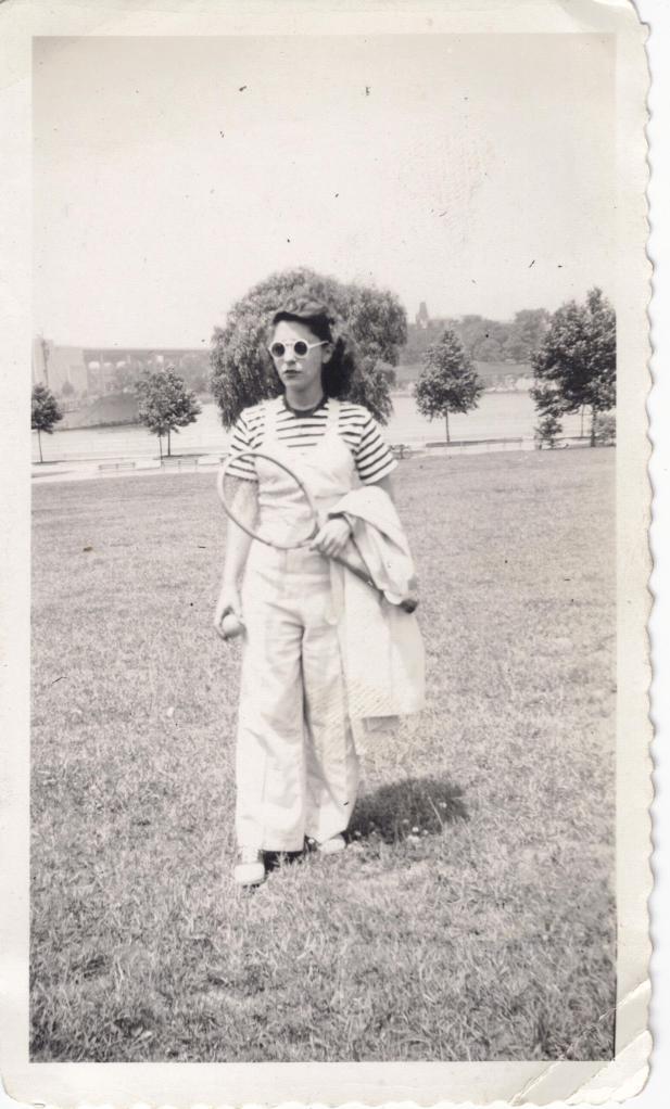 Betty B 1942 Astoria Park NYC, Tennis