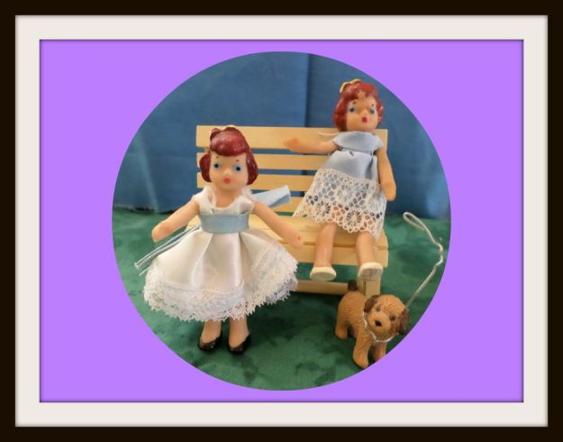 3 inch dolls re-clothed