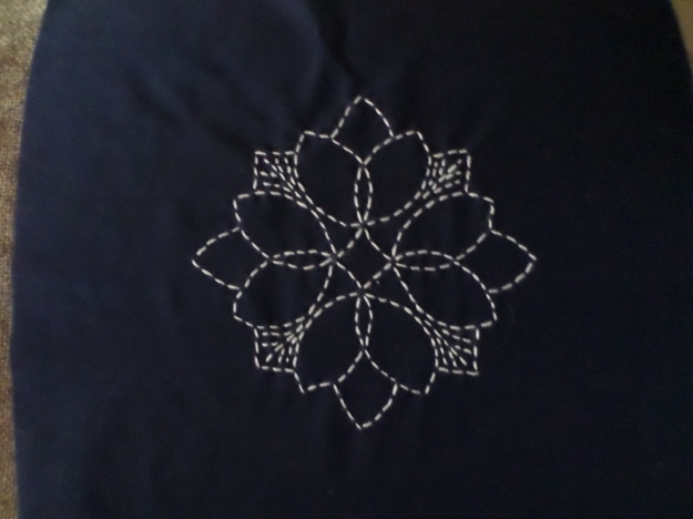Geometric Sashiko Flower
