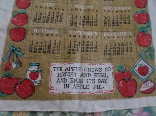 Apple Pie Calendar Towel
